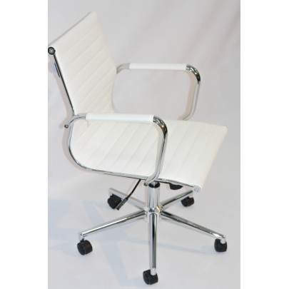 Swivel Armchair white